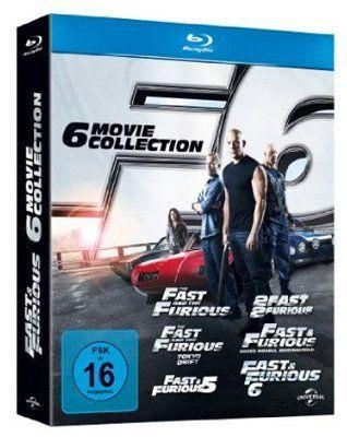 Fast Furious 1 6 Blu ray Fast & Furious 1 6 [Blu ray] für 25€ (statt 36€)