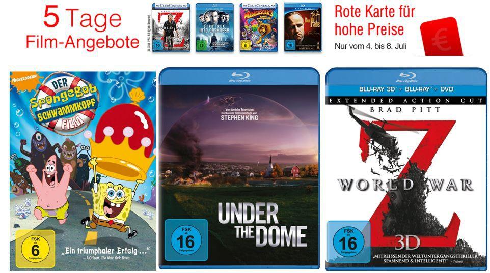 Amazon   5 Tage Film Schnäppchen   z.B. 3D Blu rays je 14,97€