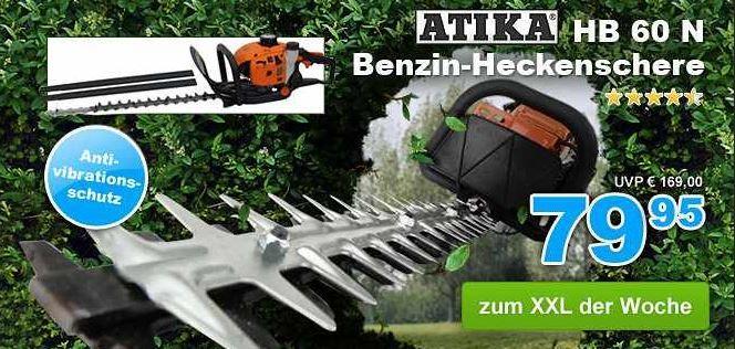 Atika HB 60 N   Benzin Heckenschere für 69,95€ statt 92€    z.B. dank verschiedener Garten XXL Gutscheine   Update!