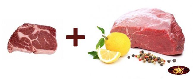 1,6kg Fleisch Paket (600g Wagyu Kobe Ribeye Steak + 1Kg Bison Hüfte) für 49,99€