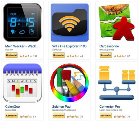 Gratis Apps bei Amazon