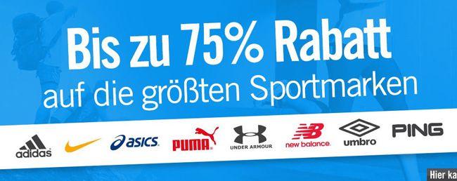 Große Sportmarken Sale MandMdirect: Bis zu 75% Rabatt auf die größten Sportmarken (Adidas, Nike, Puma uvm.)   Update!