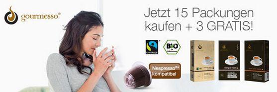 Kapseln für Nespresso Maschinen ab 0,20€ bei Gourmesso