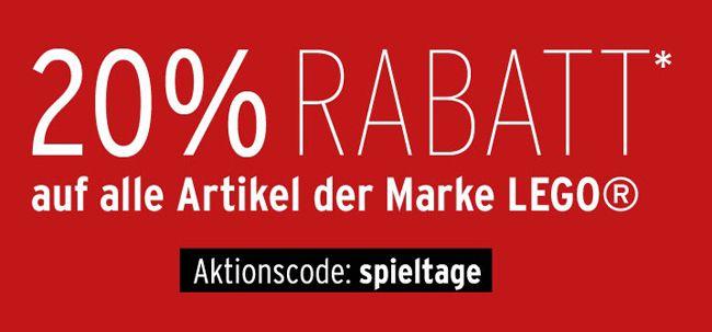 Ganze 20% Rabatt auf Lego Artikel bei Karstadt