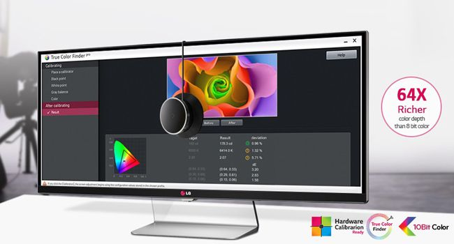 LG UltraWide 34UM95 P   34 Zoll 21:9 LED Monitor (3440 x 1440 Pixel) für 615€