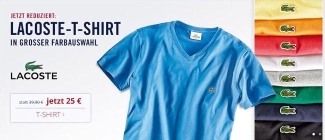 Lacoste V Neck T Shirt für nur 25€   4 Stück nur 90€ oder Boss Poloshirt für 40€ bzw. 3 Stück für 110€ dank Newsletter Gutschein