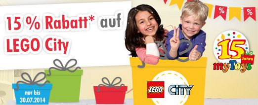 15% Rabatt auf Lego City Artikel   auch auf bereits reduzierte Ware von Lego City