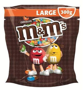 M und M M&Ms Choco Pouch 5x 300g (1,5kg) für 9,99€