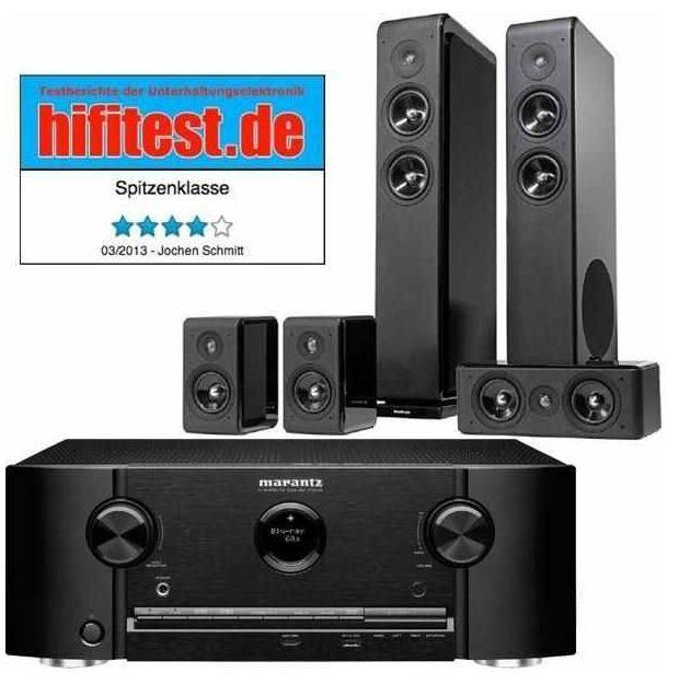 Marantz SR5008   7.2 AV Receiver mit AirPlay + Audio Pro Avanto 5.0 (Home Theater Set) für 799€