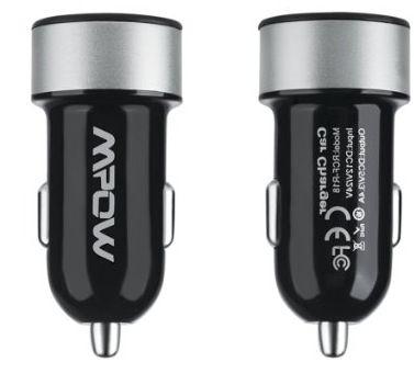 Mpow Dual Schnellader Kfz Ladegerät mit 2 USB Ports für 5,49€