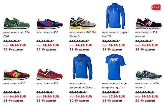 New Balance Schuhe und Kleidung um bis zu 50% reduziert bei SP24