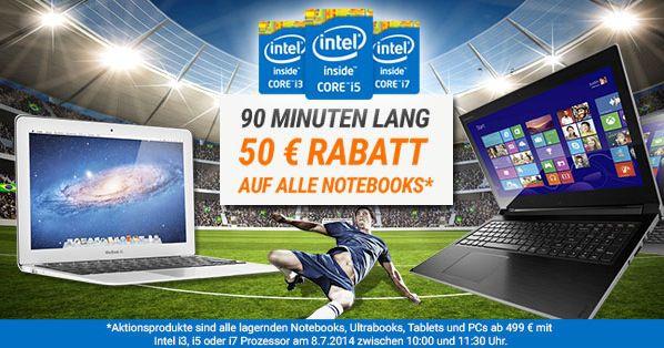 SCHNELL! 50€ Gutschein für Notebooksbilliger auf alle Notebooks, Ultrabooks, Tablets und PCs