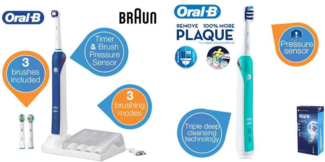 Oral Oral B   Braun Professional Care 3000 für 55,90€ & Oral B Trizone 1000 für 35,90€ eZahnbürsten beim iBOOD!