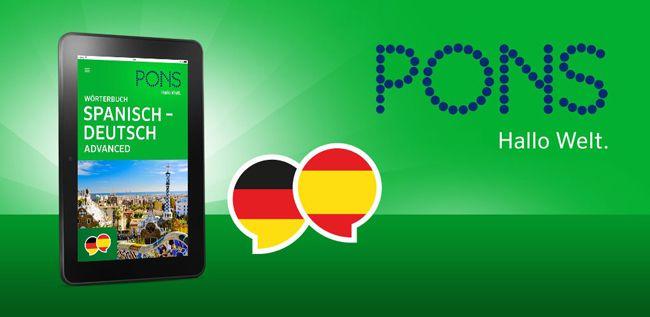 PONS Wörterbuch Advanced Spanisch < > Deutsch Android App kostenlos downloaden