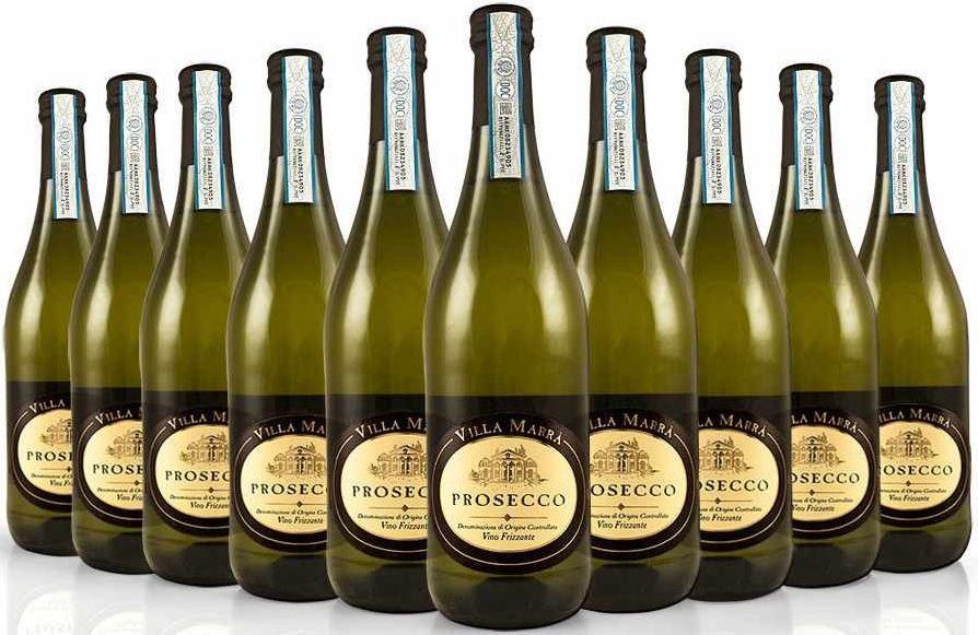 PROSECCO VILLA MARRA Vino Frizzante DOC Italien   10 x 0,75l FL. für 39,99€ inkl. Versand