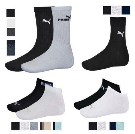 Puma 12er Pack Socken versch. Modelle und Farben für Herren, Damen und Kinder für 19,95€
