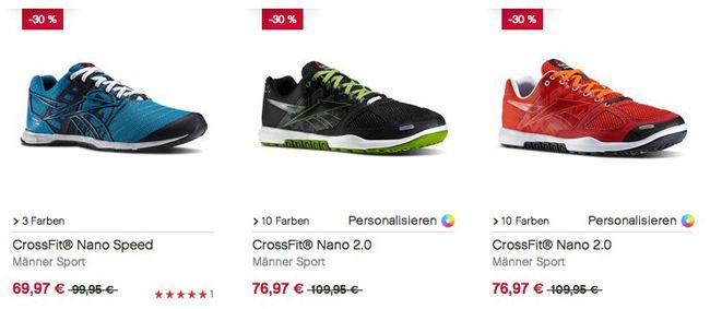 Reebok Sale mit bis zu 50% Rabatt + 20% Gutschein