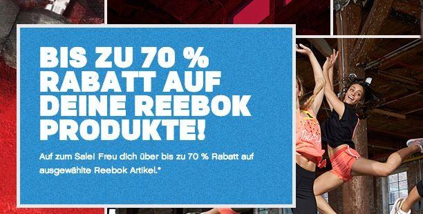 Reebok Sale1 Reebok Sale mit bis zu 50% Rabatt + 20% Gutschein