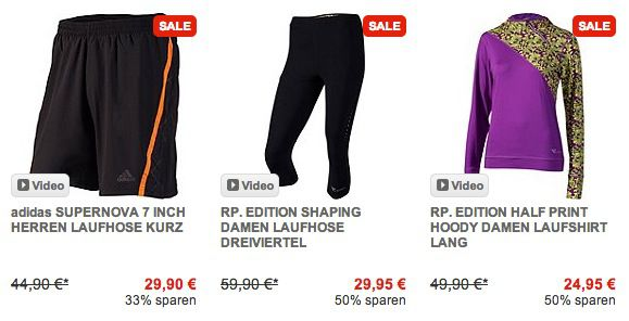 Runners Point Sale mit Rabatten von bis zu 50% auf Freizeit  und Sportkleidung