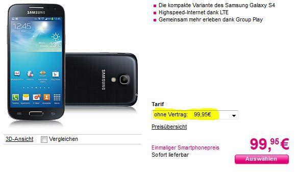 Samsung Galaxy S4 mini 16GB WiFi ab 99,95€ oder Apple iPhone 5S für 450€ und 5C für 340€   wie neu