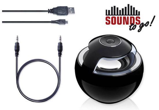 SOUNDS to go SOUNDS   to go! Bluetooth Lautsprecher für 18,49€ (statt 27€)