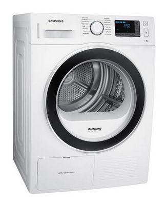 Samsung DV 80F5EBHGW/EG Wärmepumpentrockner (Weiß, A++, 8kg) für 469,90€ (statt 543€)