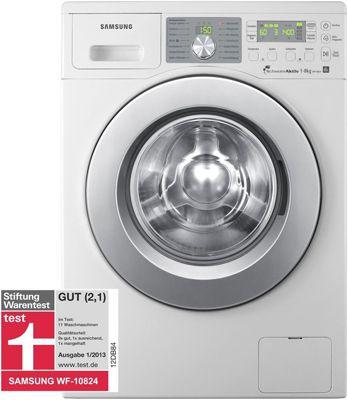Samsung WF10824 Waschmaschine (Weiß, EEK A+++, 1.400 U/min, 8Kg) für 399€ (statt 549€)