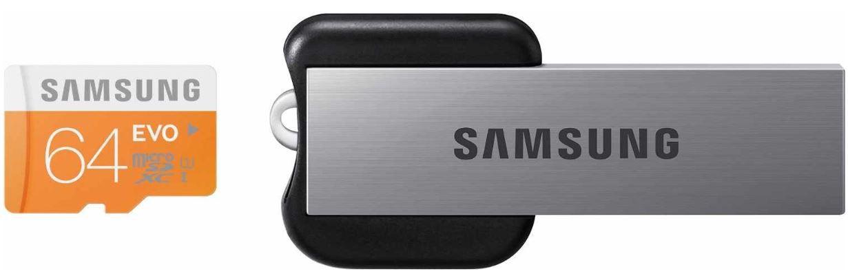 Samsung EVO   64GB microSDHC Class 10 inkl. USB Adapter für 49,90€   wieder da!