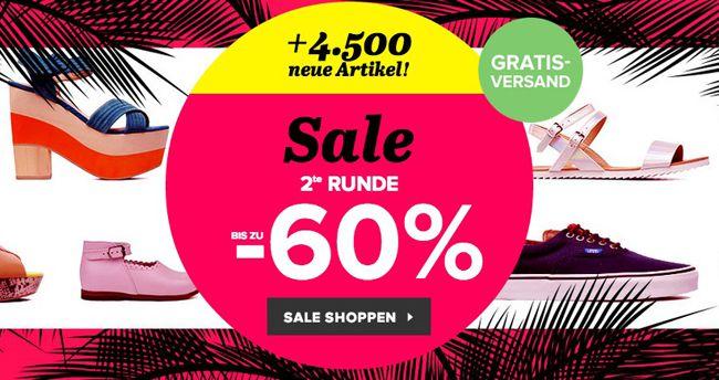 Ausverkauf bei Sarenza: günstige Schuhe mit bis zu 60% Rabatt