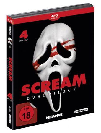 Scream Quadrilogy auf Blu ray für 17,17€ (statt 25€)