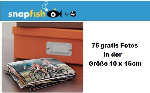 Snap Snapfish mit 75 gratis Fotos in der Größe 10 x 15cm + 2,95€ Versandkosten   Update!