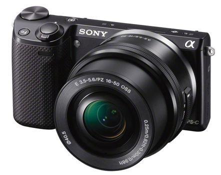 Sony NEX 5TLB Kit Sony Alpha NEX 5T Kit 16 50 mm System Kamera (LCD Display, Full HD, WiFi, NFC) für 353,20€