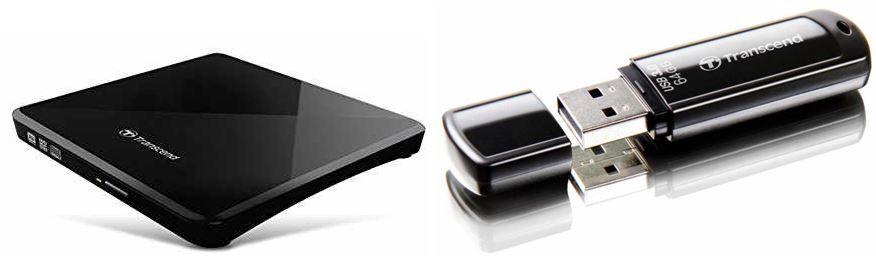 Transcend JetFlash 700   64GB USB Stick USB 3.0 für 20,90€ & Transcend externer Slim DVD 8x Brenner für 24,50€