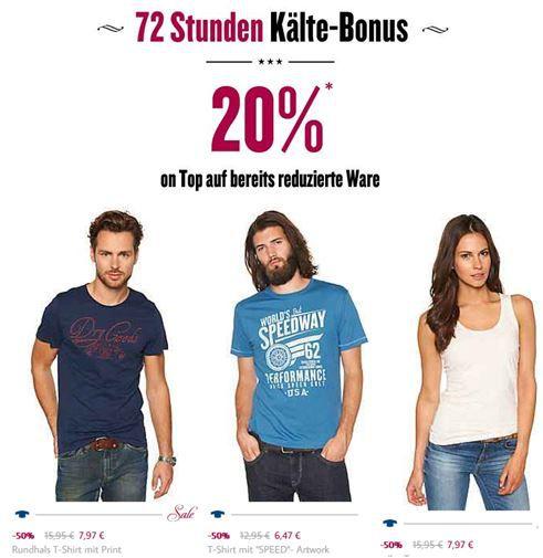 TomTailor 50% Rabatt Sale mit 20% Extra Rabatt! Update