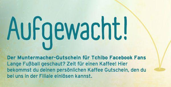 Tchibo Kaffee Gratis Kaffee bei Tchibo dank Facebook Aktion