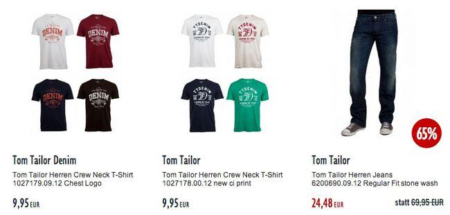 30% Zusatz Rabatt auf Tom Tailor Kleidung bei Jeans Direct   Update!