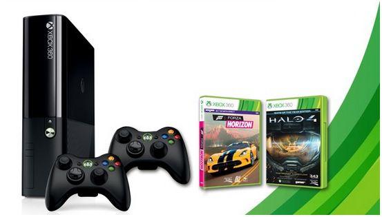 Xbox 360 Bundle Microsoft Xbox 360 250GB + Halo 4 + Forza Horizon + 2. Controller für 179€