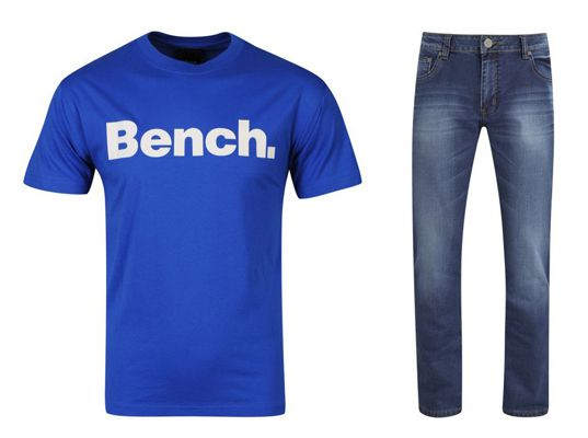Bench Shirt für ca. 11,50€ und Soul Star Mens General Straight Fit Jeans für ca. 21,90€