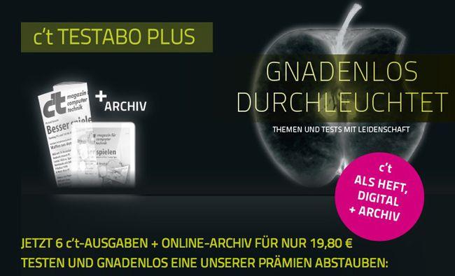 ct Print Test Abo 6x ct Print Zeitschrift + Digital Ausgabe + Online Archiv für effektiv 4,80€ dank Amazon Gutschein Prämie