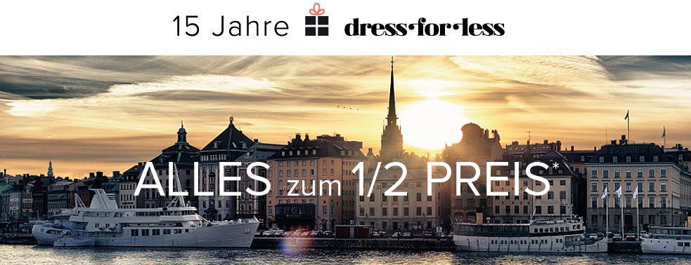 dress3 dress for less   Alles zum halben Preis + 10% Gutschein   Update