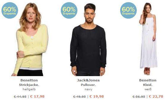 Benetton Herren Pullover für 13,98€ und mehr gute Angebote im dress for less 60% Rabatt Sale