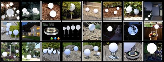 s`luce FORCE LED Solarkugel   Gartenleuchte 9 verschiedene Sets für je 19,99€