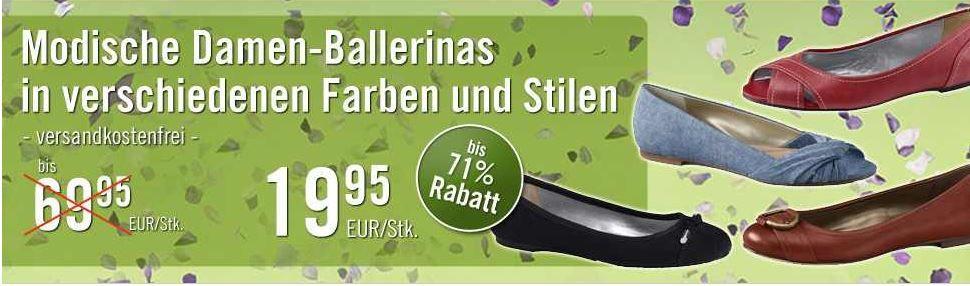 LANDS´ END   Damen Ballerinas viele Farben und Größen für 19,95€ inkl. Versand