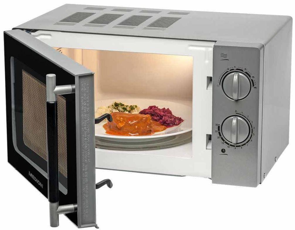 MEDION MD 14775   700 Watt Einsteiger Mikrowelle mit 17 Liter Volumen für 39,99€