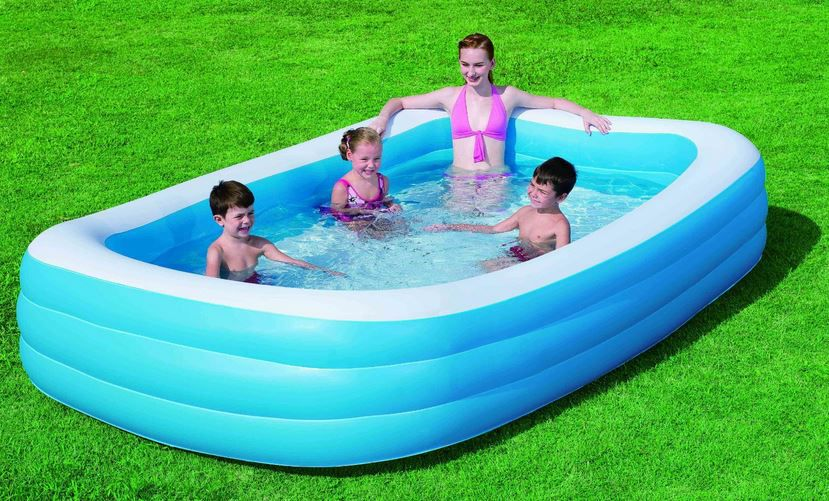 Bestway Jumbo Planschbecken   3 Ringe Pool 305cm x 183cm x 56cm für 24,99€€