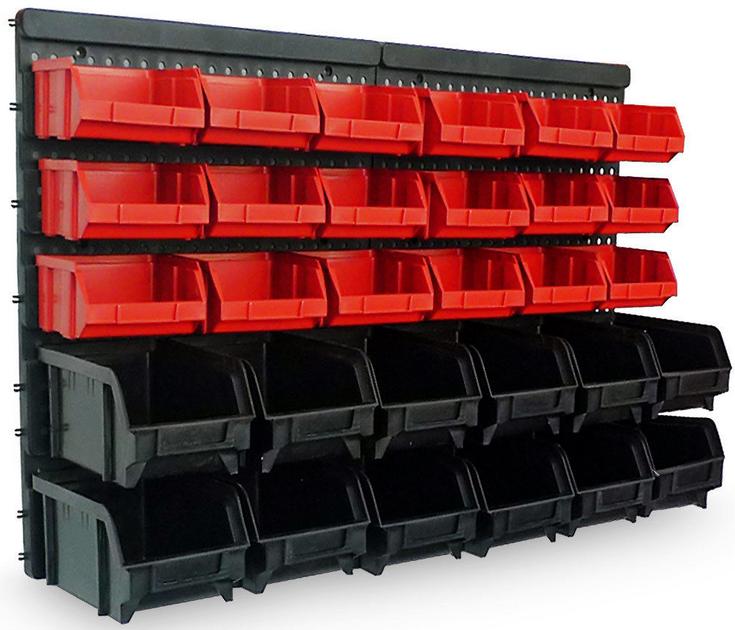 Wandregal mit Stapelboxen 31 teilig statt 21€ für 17,95€