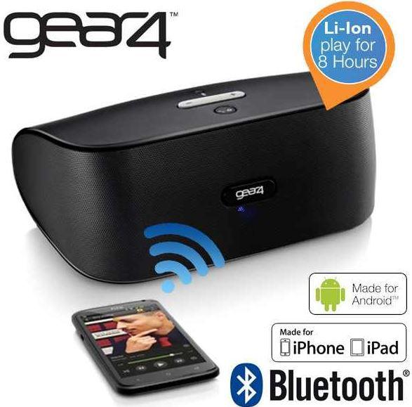 gear4 Gear 4 Street   tragbarer Bluetooth Lautsprecher mit Li Ionen Akku für 30,90€   wieder da!