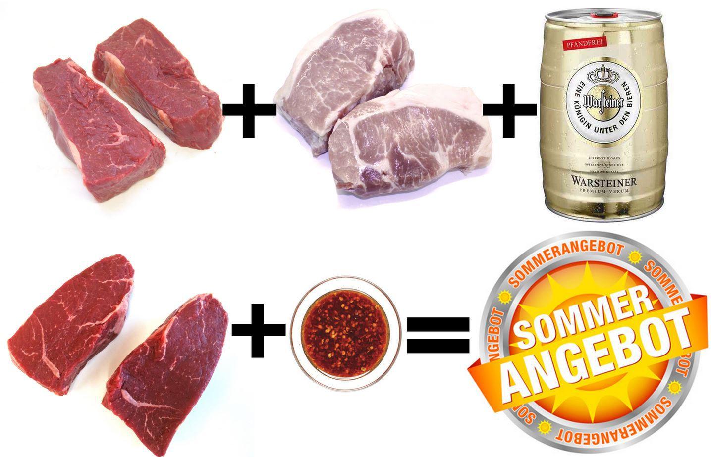 lekker 3 KG premium Sommer Grillpaket (Wagyu, Bison, Duroc) für 79,99€ inkl. Versand   Update!