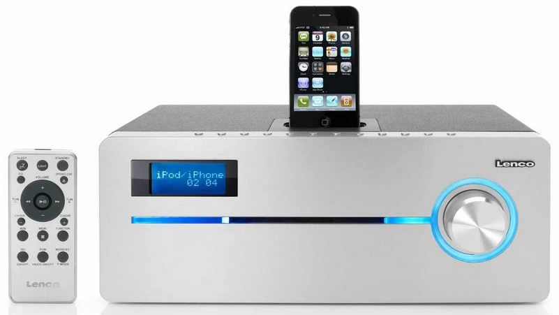 Lenco iPD 9000   Dockingstation für Apple iPod/iPhone (PLL/UKW Radio, CD/MP3, Simple RDS) für 99€   Update