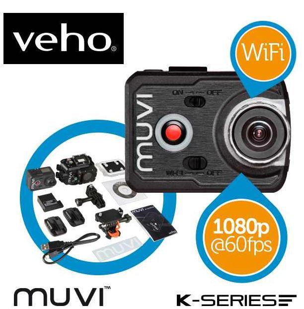 muvi Veho Muvi FullHD K2 WiFi Action Cam für 175,90€